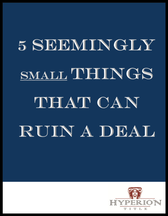 5 seemingly small things that can ruin a deal cover