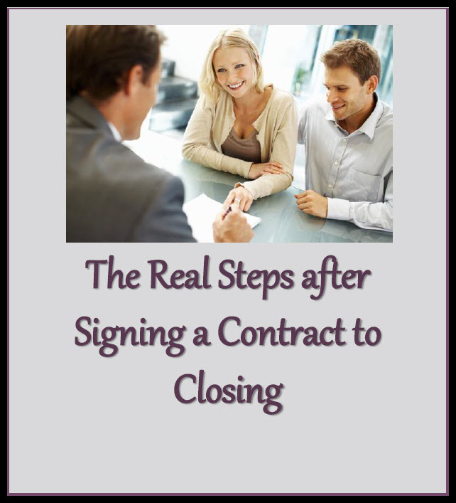 Real Steps after signing a contract to closing cover
